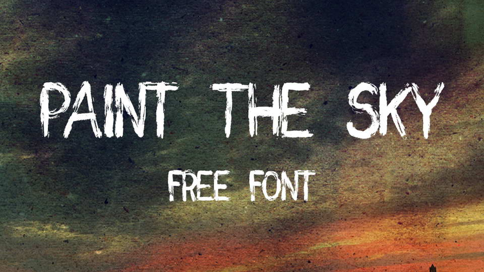 paint the sky free font