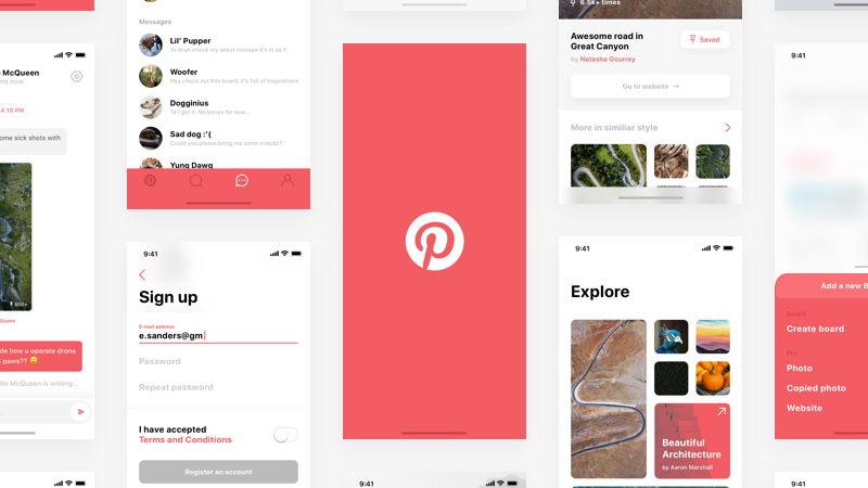pinterest redesign app