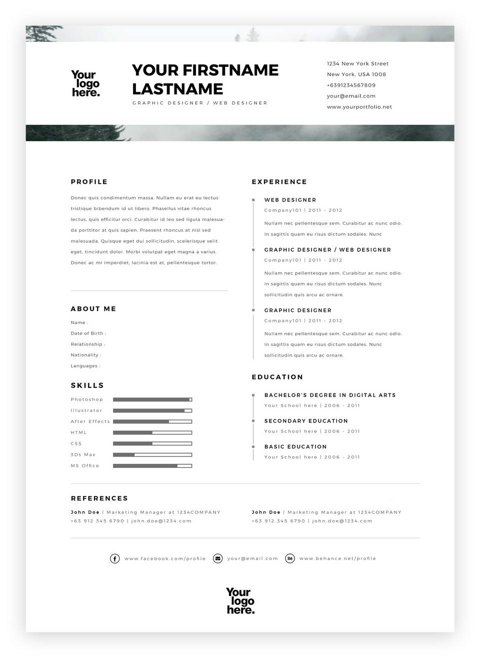 resume free template