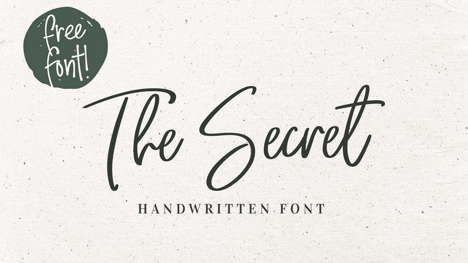 the secret free font