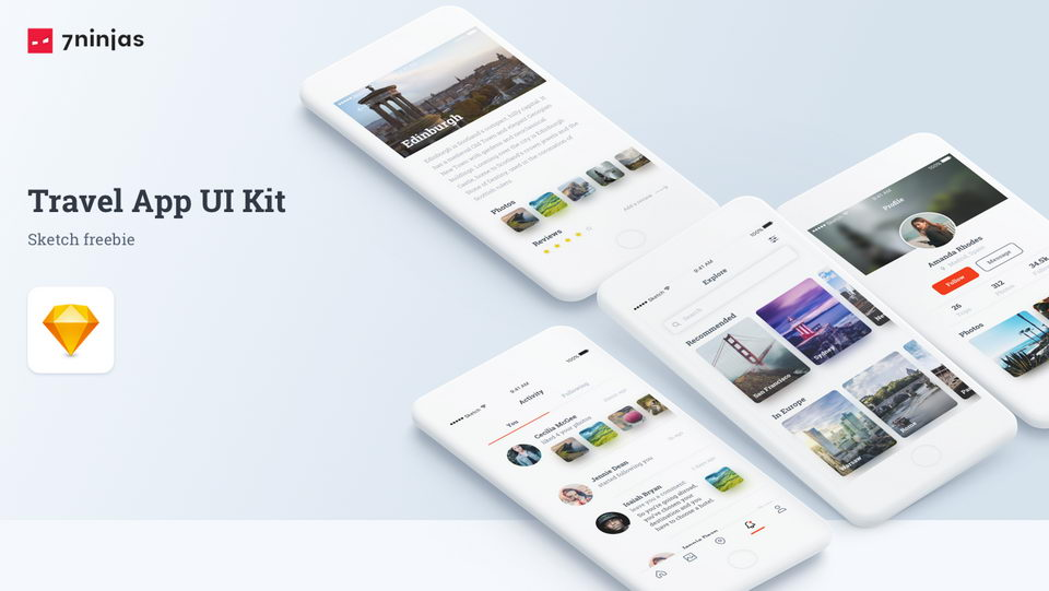 travel app ui kit free