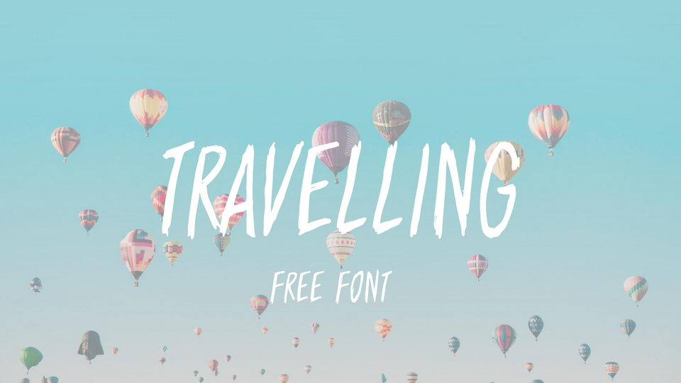 travelling free font