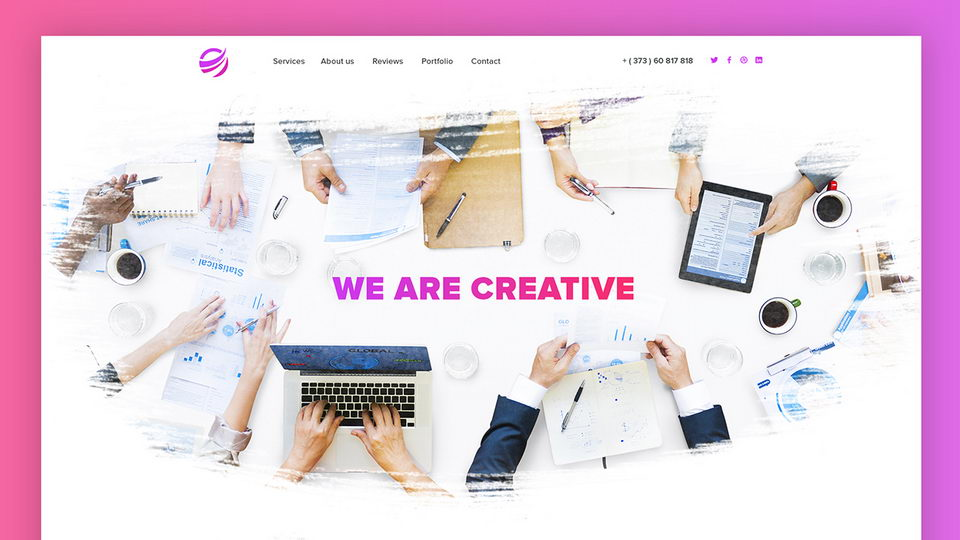 watercolor web template