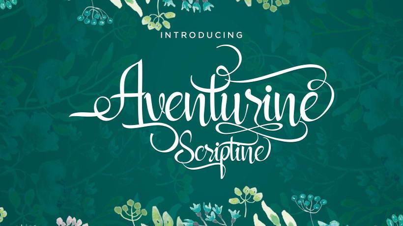 aventurine scriptine free font