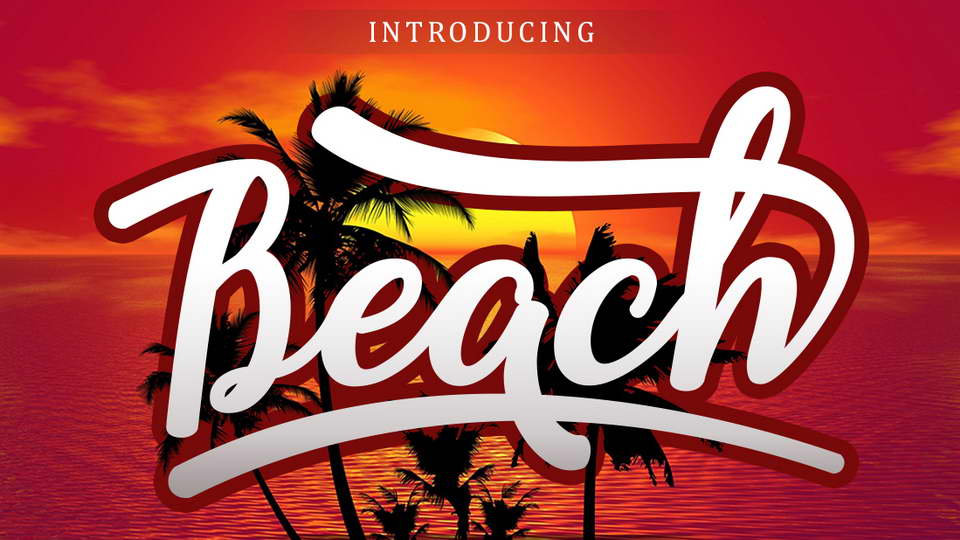 beach free font