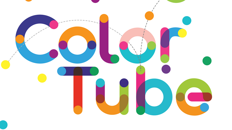 color tube free font