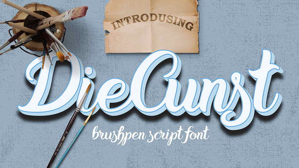 diecunst free font