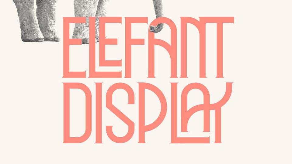 elefant free font