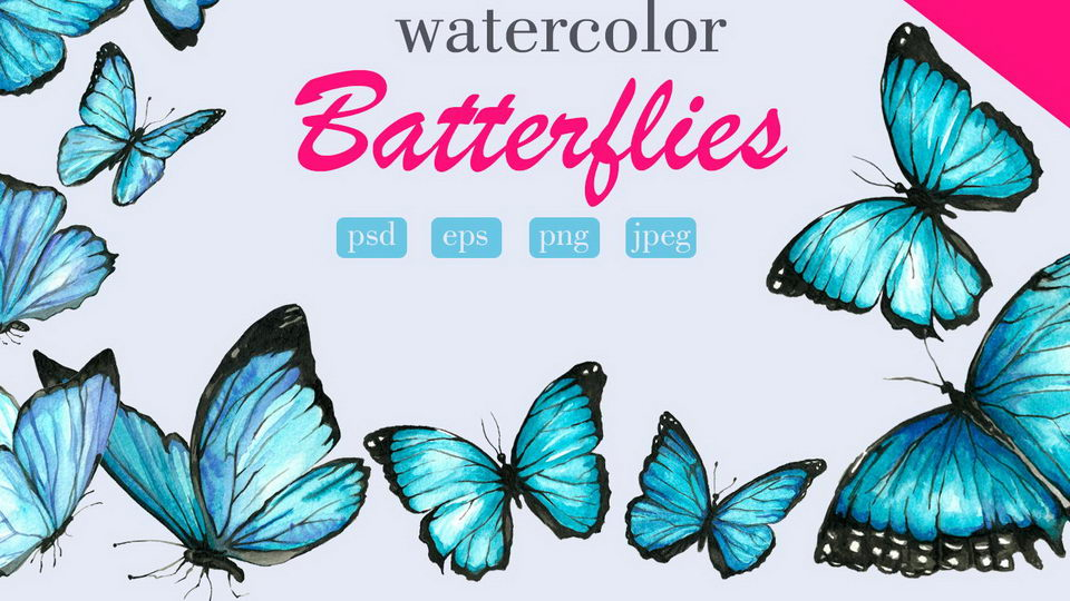 free watercolor butterflies
