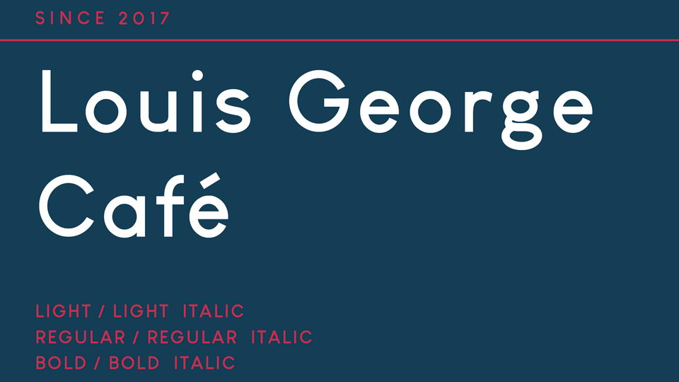 louis george cafe font
