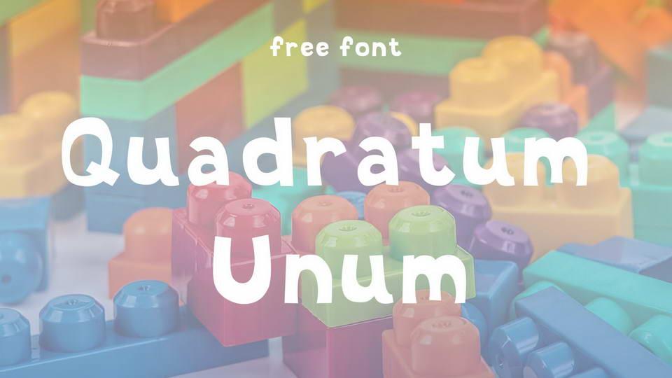 quadratum unum freefont