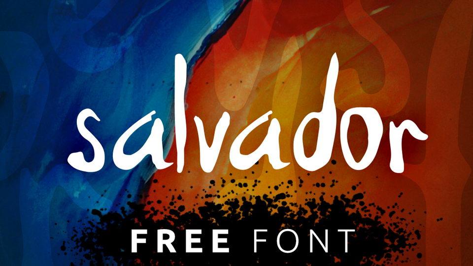 salvador hand free font