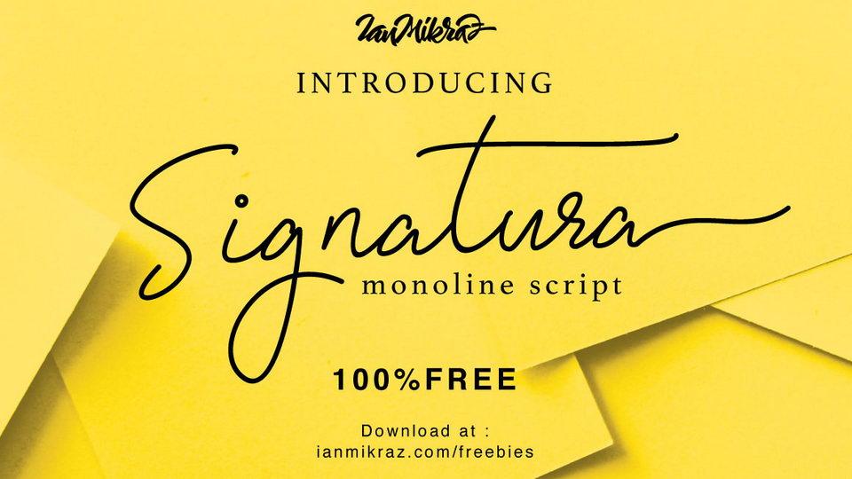 signatura free font