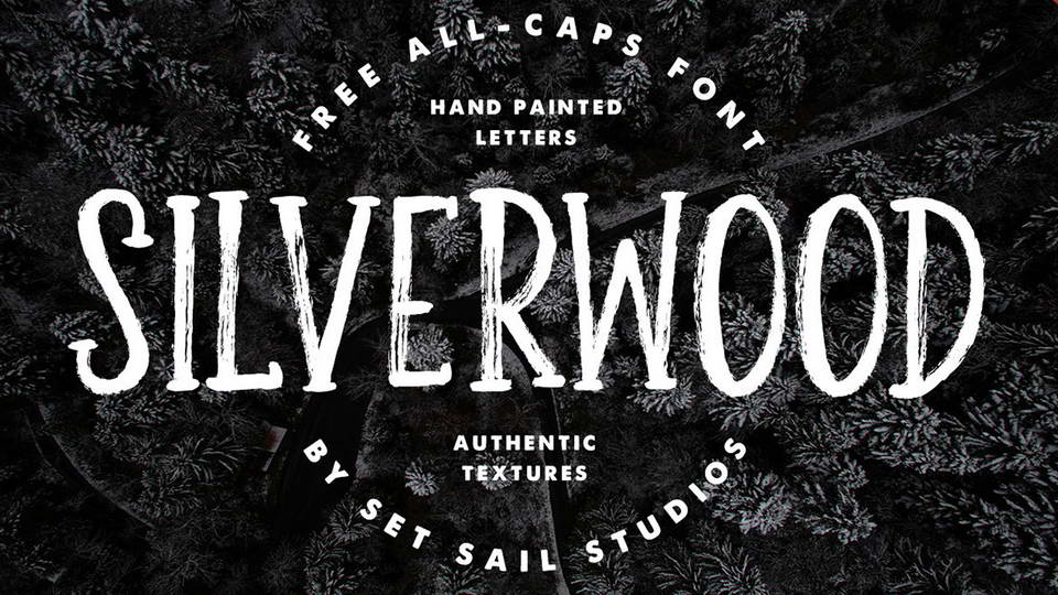 silver wood free font