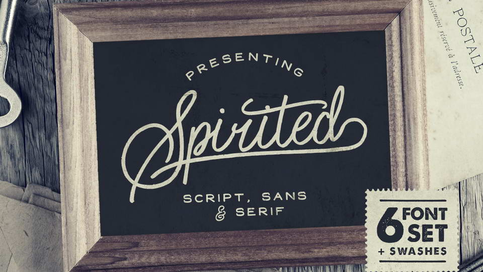 spirited free fonts
