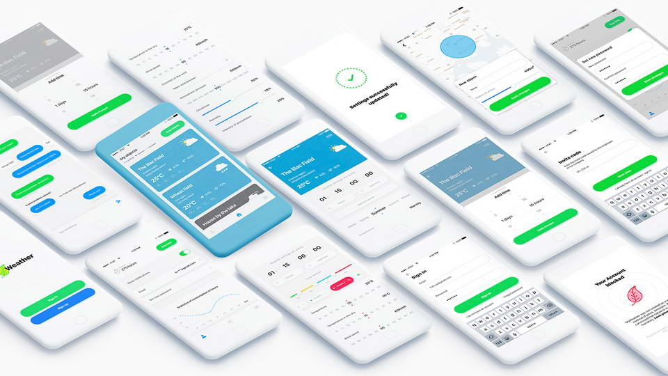 weather free app ui kit