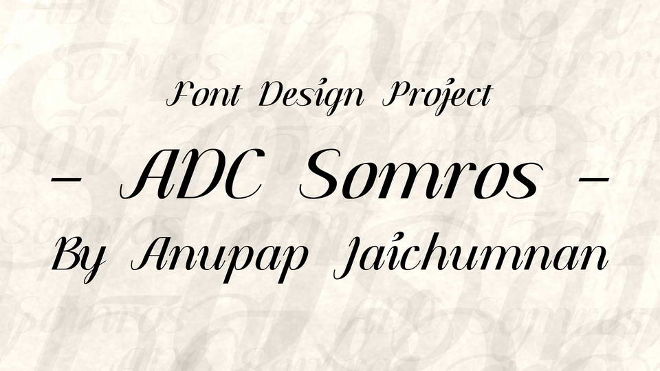 adc somros font download