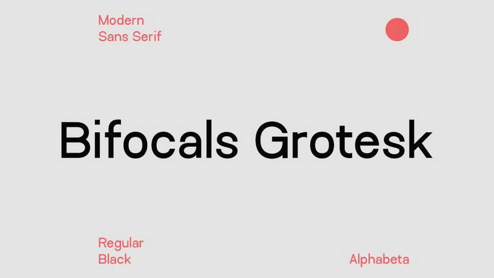 bifocals grotesk free font