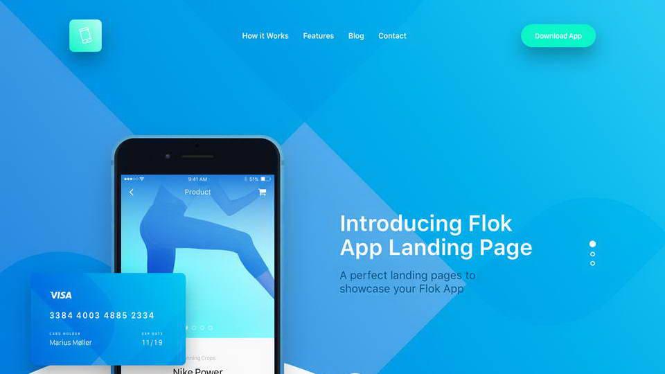 dowload app landing page