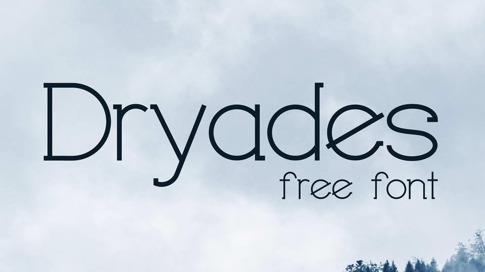 dryades free font