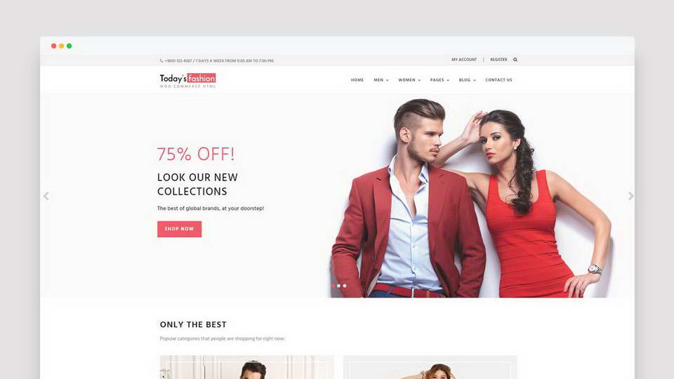 free shop web template