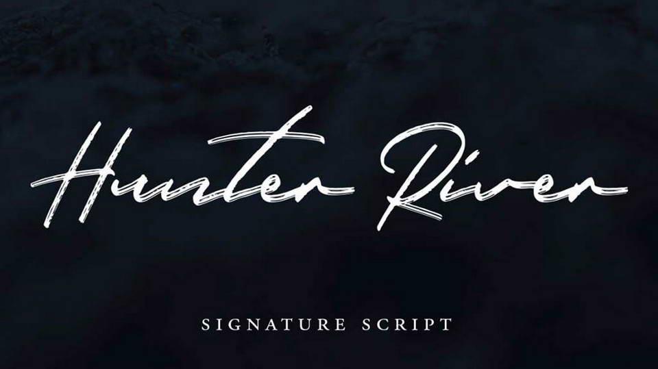 hunter river free font