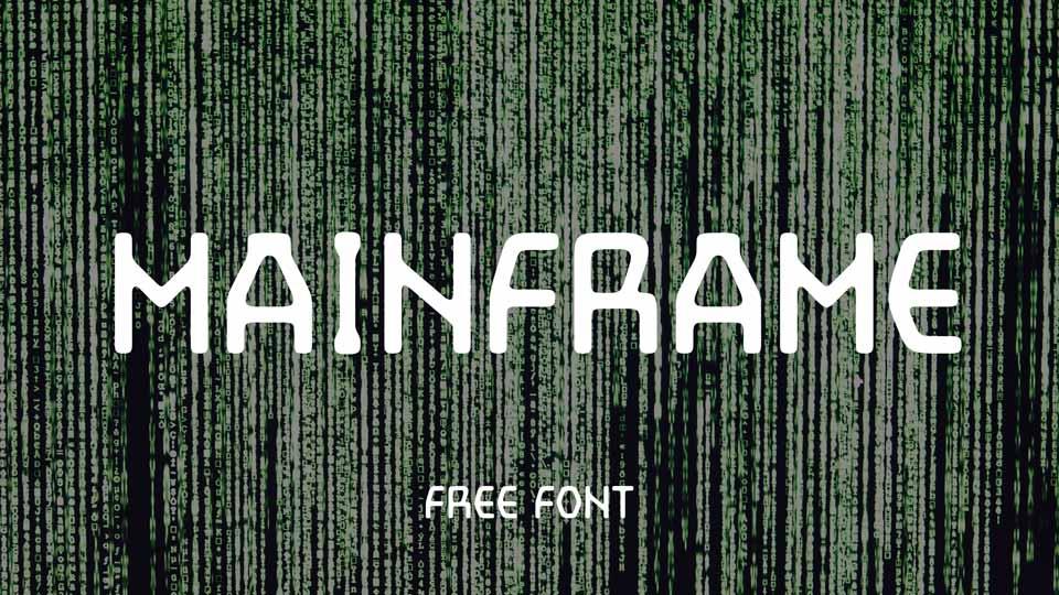 main frame free font