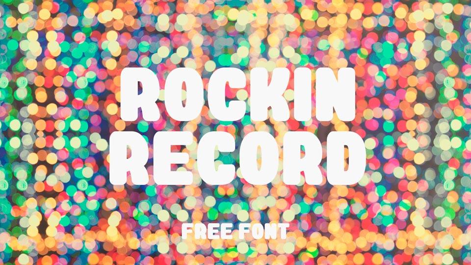rockin record free font
