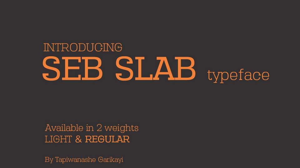 seb slab free font