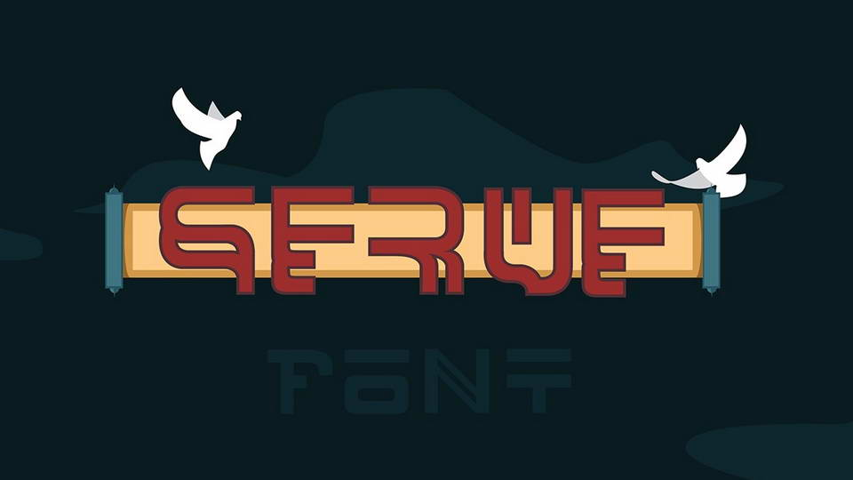 serve free font