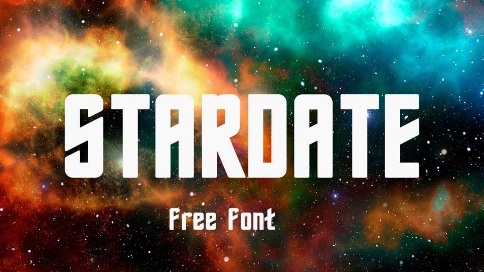 stardate free font