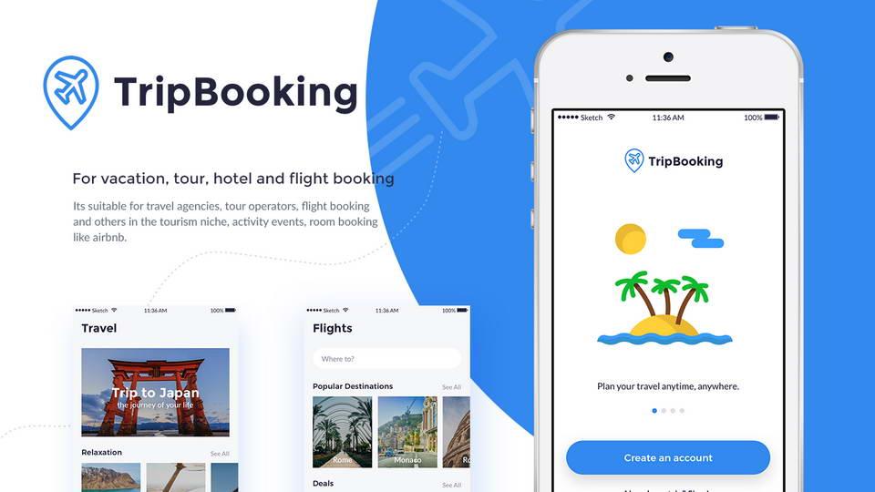 trip booking app free