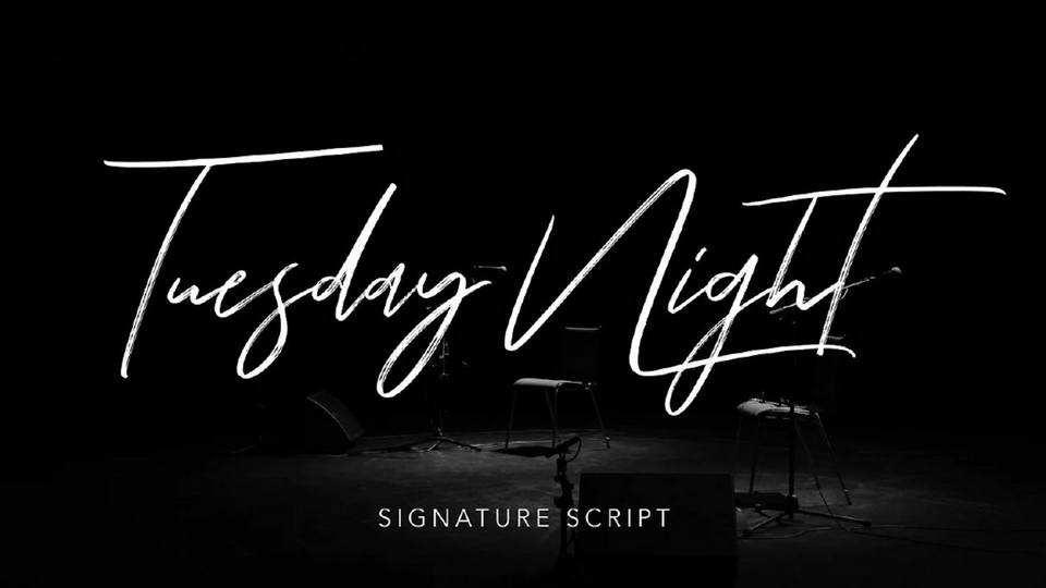tuesday night free font