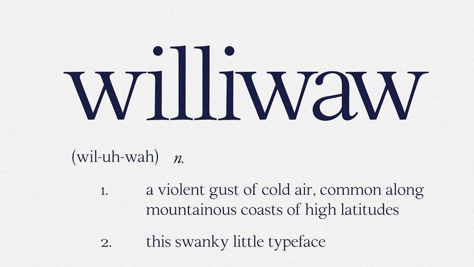 williwawfreefont