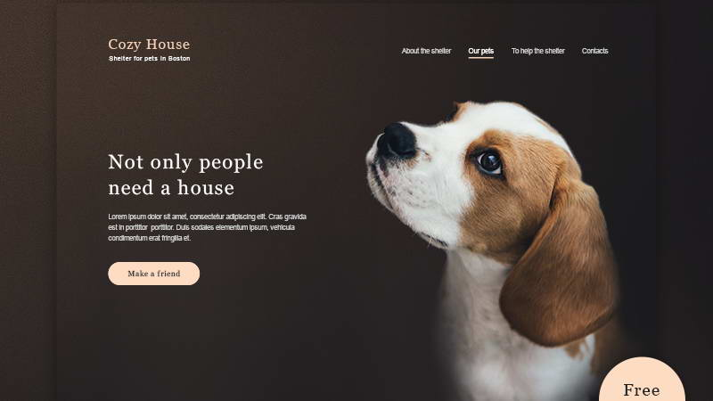 animal shelter psd download
