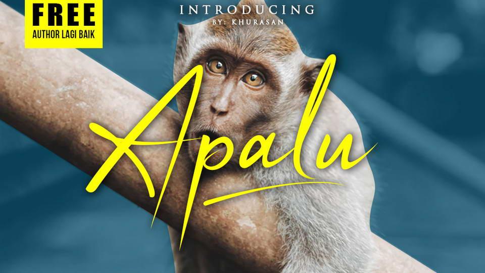 apalu free font