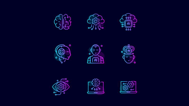 artificial intelligence free icons