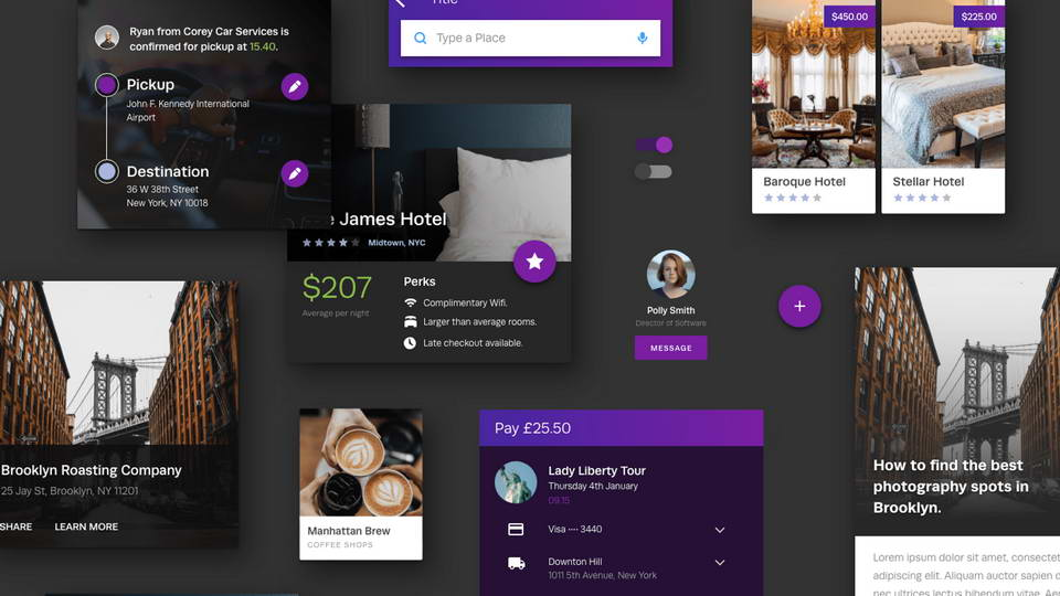 booking app ui kit