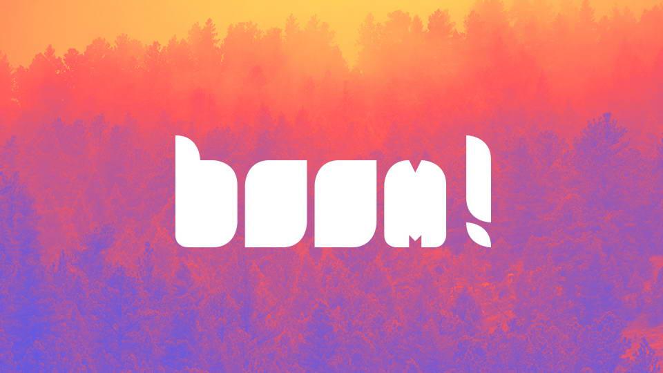 boom free font