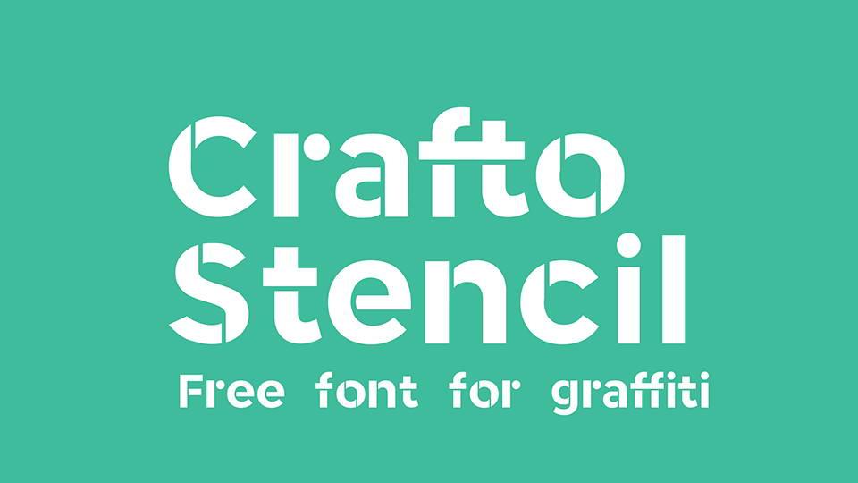 crafto stencil free font