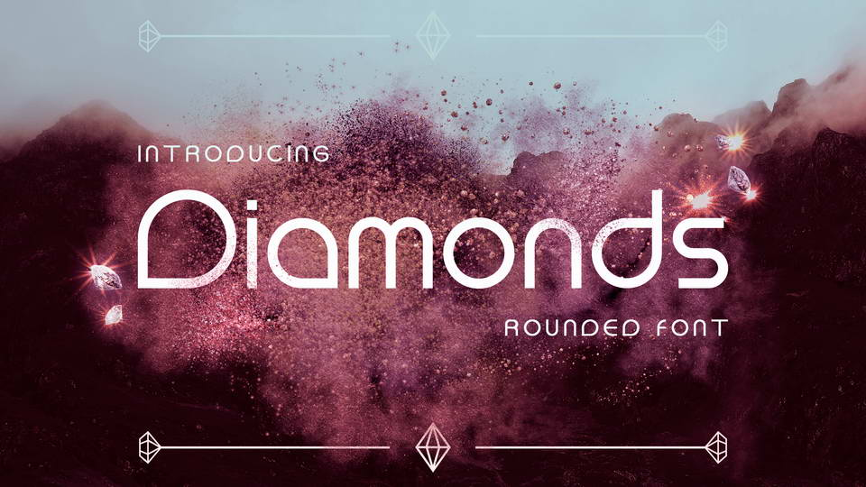diamonds free font