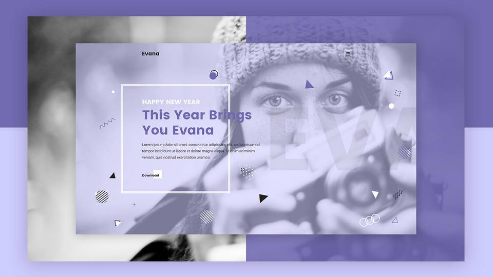 evana free web psd