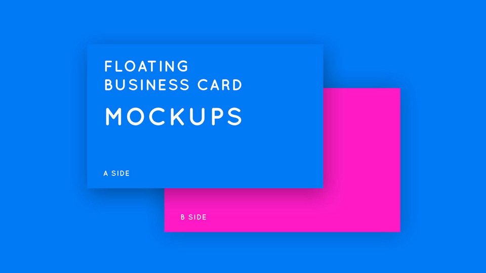 free business card mockup download