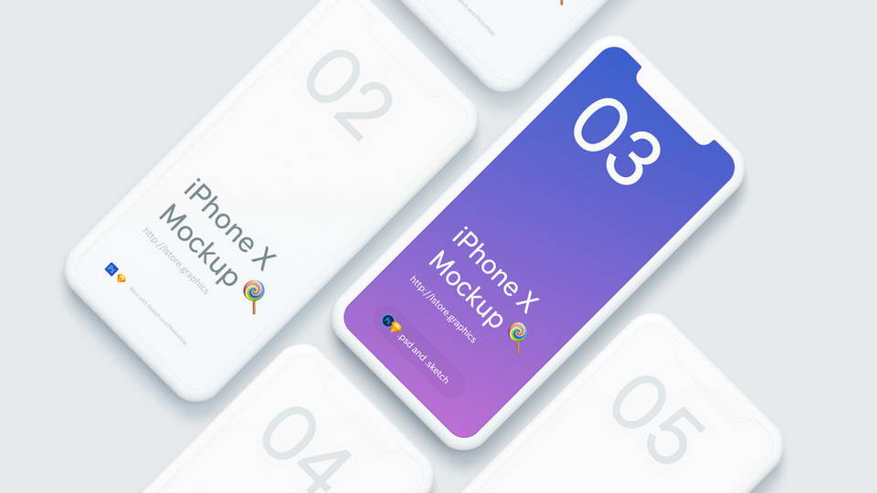 free iphone x mockup download