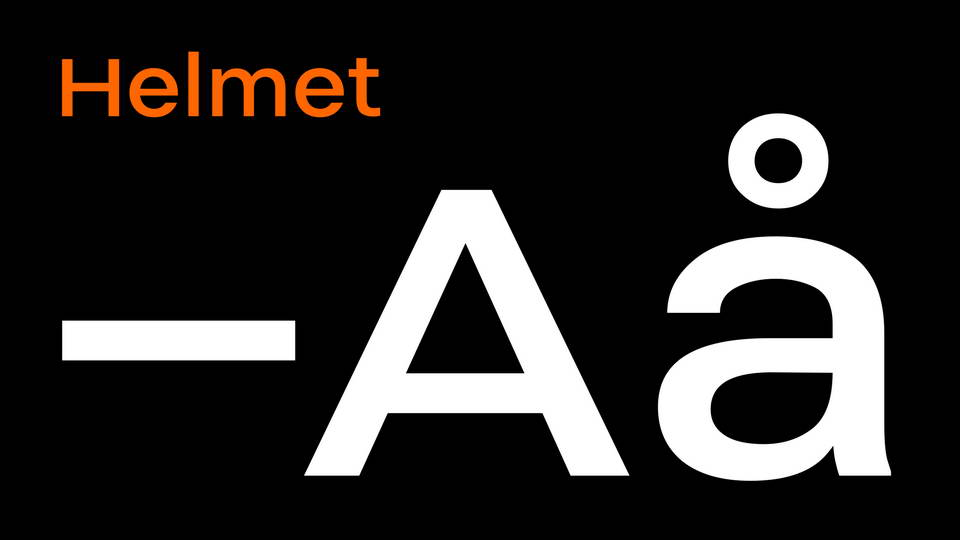 helmet free font