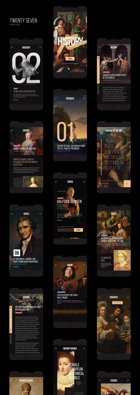 history app free ui kit
