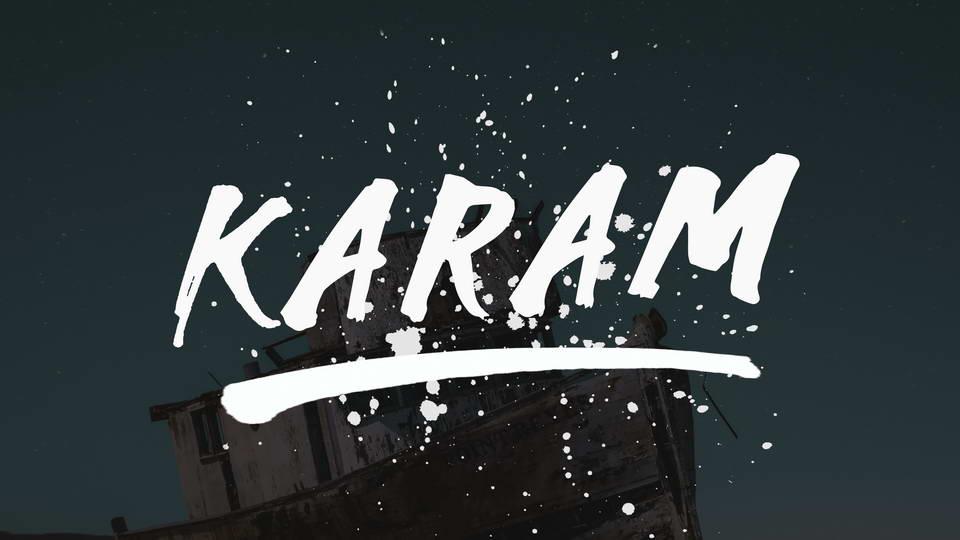 karam free font