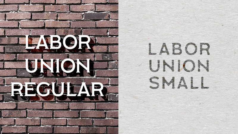 labor union free font