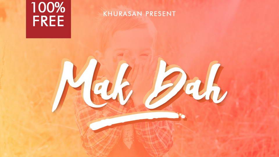 makdah free script font