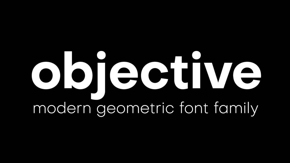 objective free font family